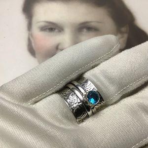 Spinner Sterling Silver 925 Ring